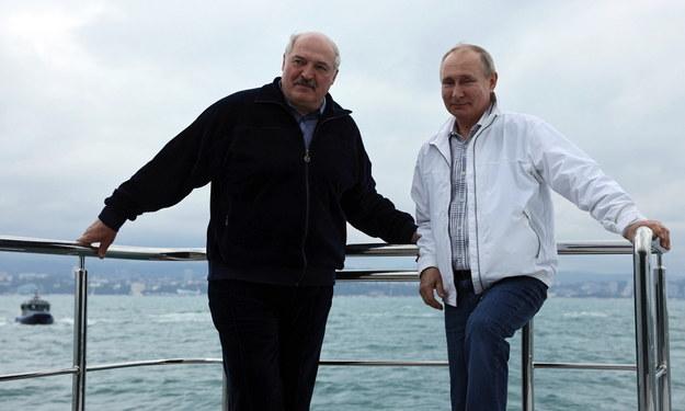 Alaksandr Łukaszenka i Władimir Putin //SERGEI ILYIN/SPUTNIK/KREMLIN POOL  /PAP/EPA
