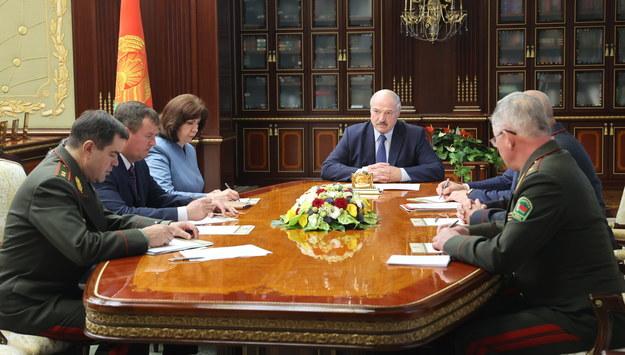 Alaksandr Łukaszenka na spotkaniu Rady Bezpieczeństwa /NIKOLAI PETROV / POOL /PAP/EPA