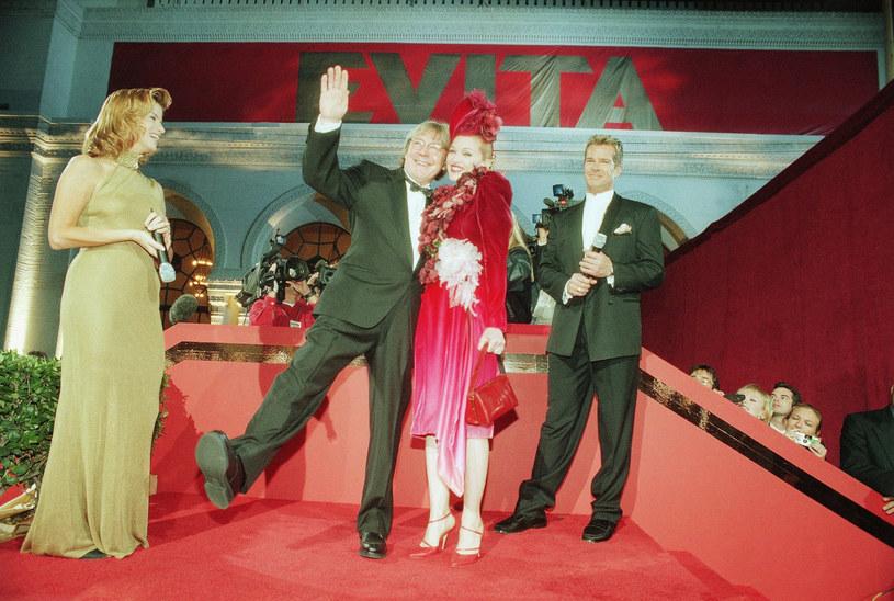 "Alan Parker i Madonna na premierze ""Evity"" /AP Photo/Chris Pizzello /East News"