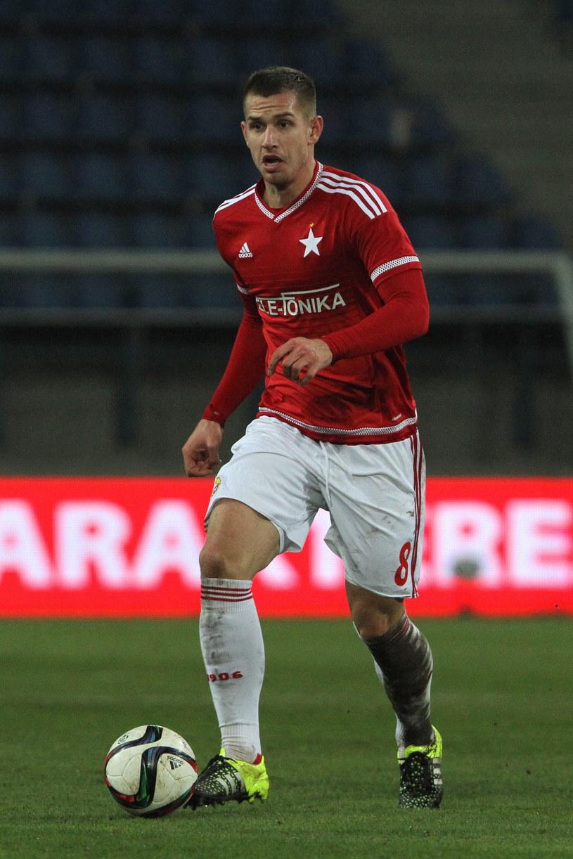 Alan Uryga grał w juniorach Wisły Kraków, a teraz występuje w pierwszym zespole /Łukasz Krajewski /