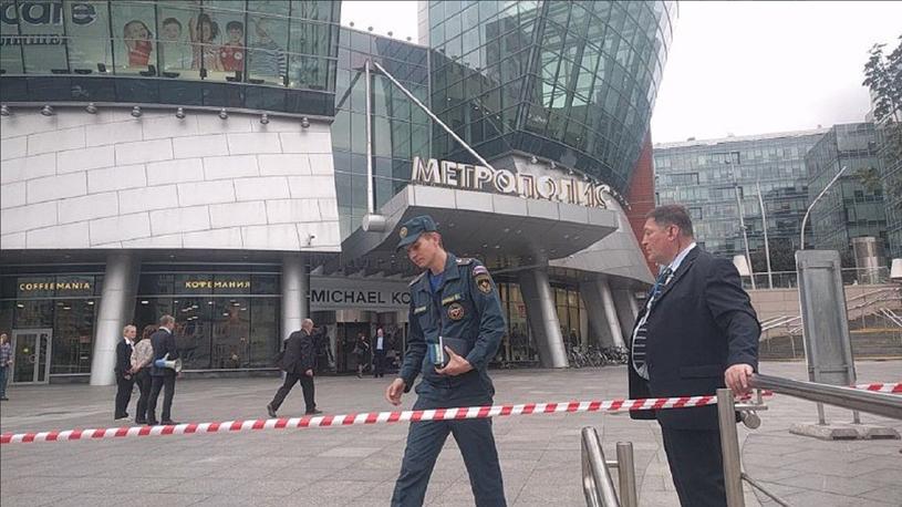 Alarmy bombowe w Moskwie /Twitter /