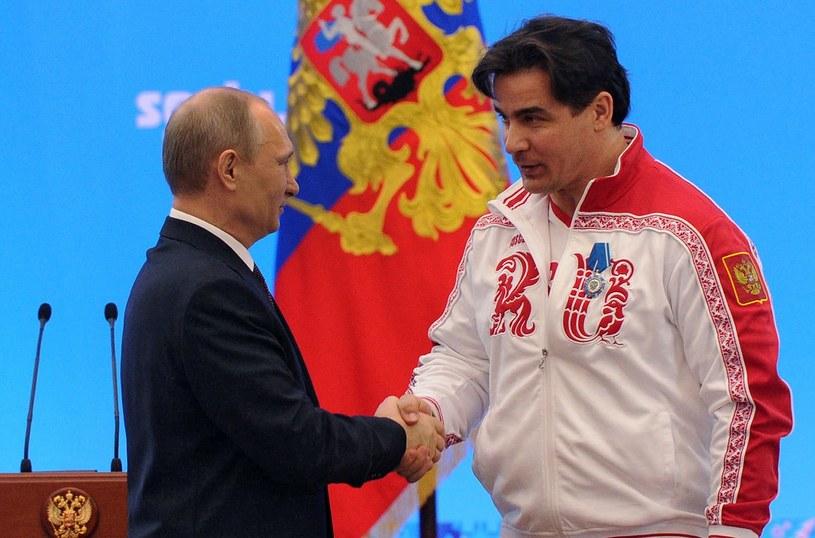 Albert Demczenko (P) i prezydent Władimir Putin /AFP
