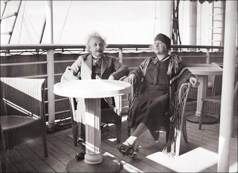 Albert Einstein z Elsą /East News