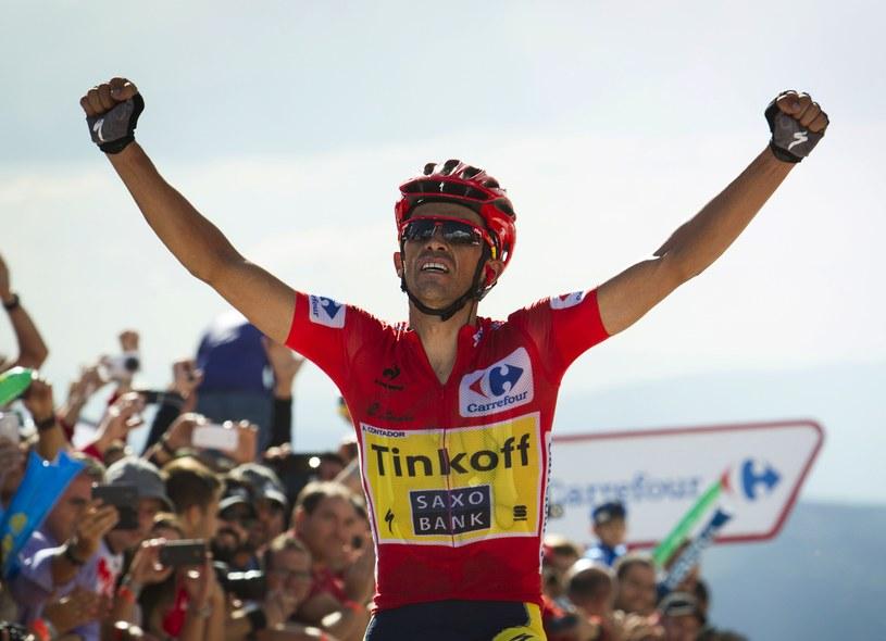Alberto Contador na mecie /AFP