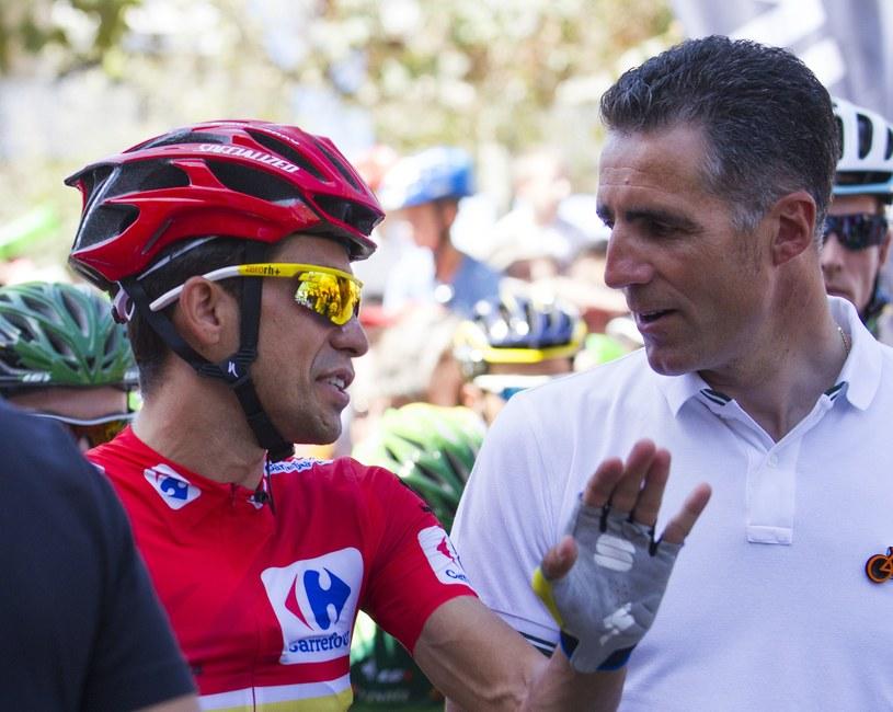 Alberto Contador wciąż jest liderem wyścigu /AFP