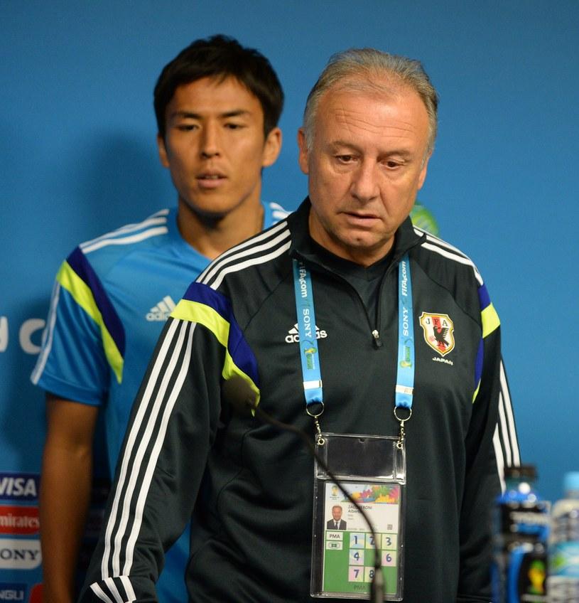 Alberto Zaccheroni (z prawej) - trener reprezentacji Japonii /AFP