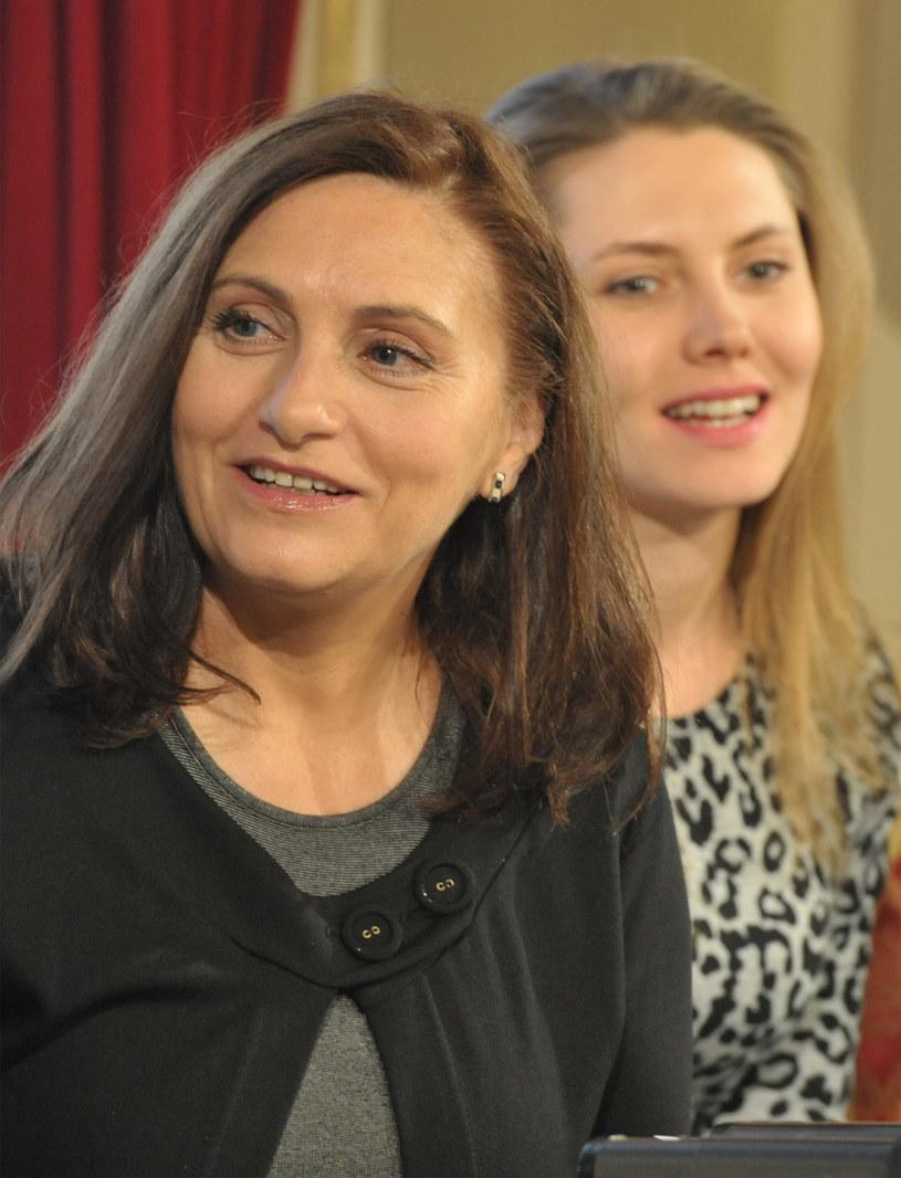 Aldona Grochal podczas saloniku poezji /Waclaw Klag /Reporter