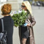 Aldona Orman w krótkiej sukience na pogrzebie Krystyny Kołodziejczyk i Wiesława Szyszko