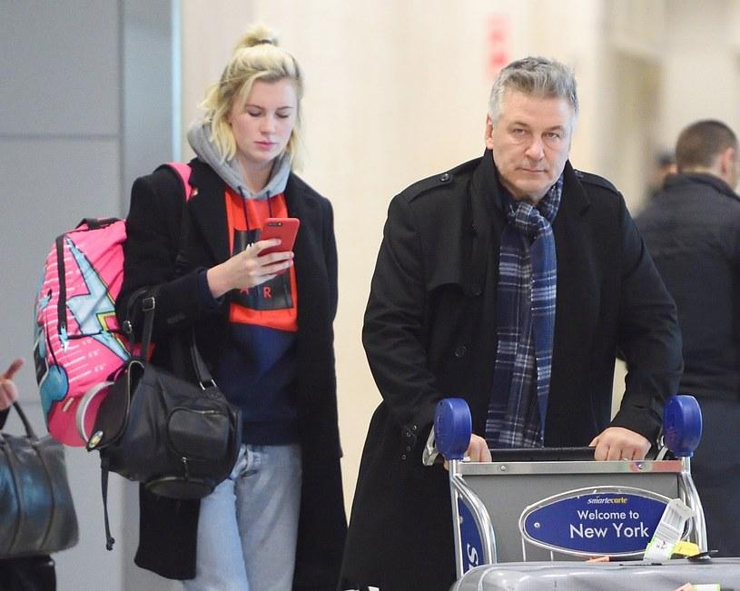 Alec Baldwin z córką /Ron Asadorian / Splash News /East News