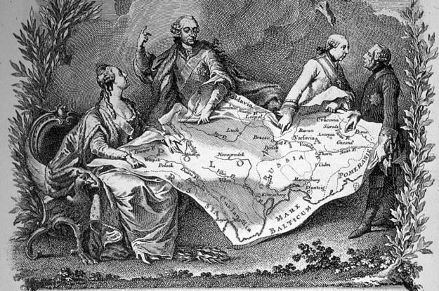 Alegoria rozbiorów Rzeczpospolitej Obojga Narodów /Wikimedia