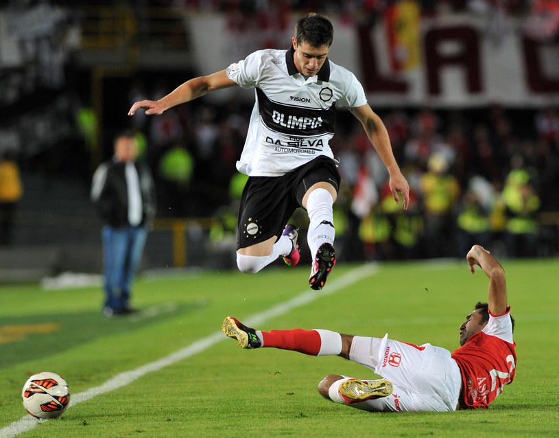 Alejandro Silva, strzelec gola dla Olimpii Asuncion /AFP