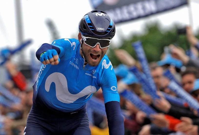 Alejandro Valverde na mecie drugiego etapu /PAP/EPA