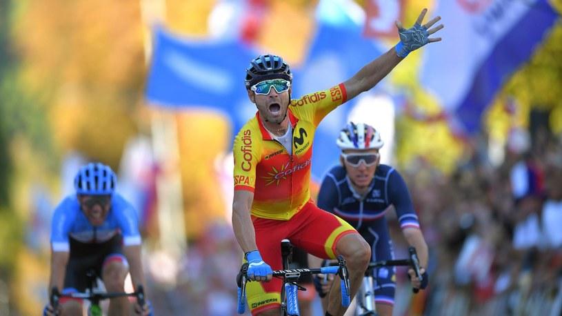 Alejandro Valverde wygrywa wyścig o mistrzostwo świata w Innsbrucku /Getty Images