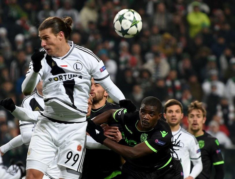 Aleksandar Prijović jeszcze w barwach Legii /AFP