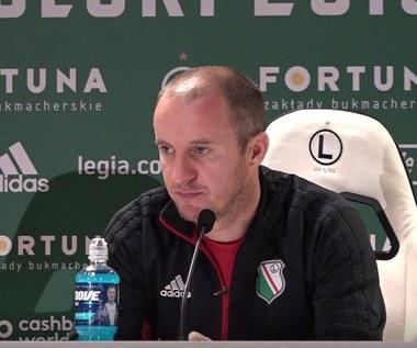 Aleksandar Vuković (Legia) przed ostatnią kolejką Ekstraklasy. Wideo