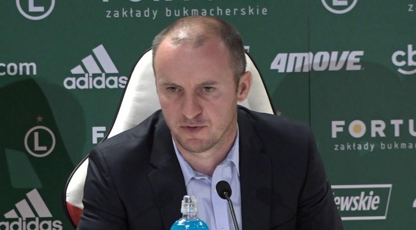 Aleksandar Vuković, trener Legii, może wkrótce doczekać się nowego lewego obrońcy /Zbigniew Czyż /INTERIA.PL