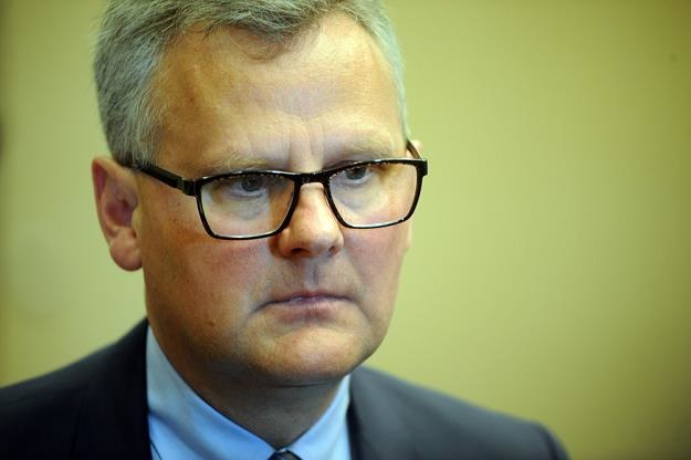 Aleksander Grad, b. minister skarbu i prezes PGE EJ1. Fot. Wojciech Stróżyk /Reporter
