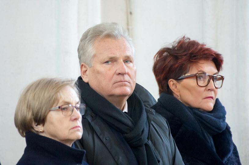 Aleksander i Jolanta Kwaśniewscy wzajemnie wspierają się w chorobie /Wojciech Strożyk REPORTER /Reporter