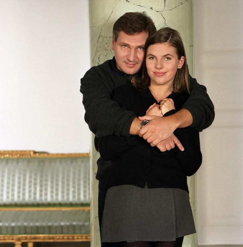 Aleksander i Ola Kwaśniewscy (1996 r.) /Yola/FOTONOVA /East News
