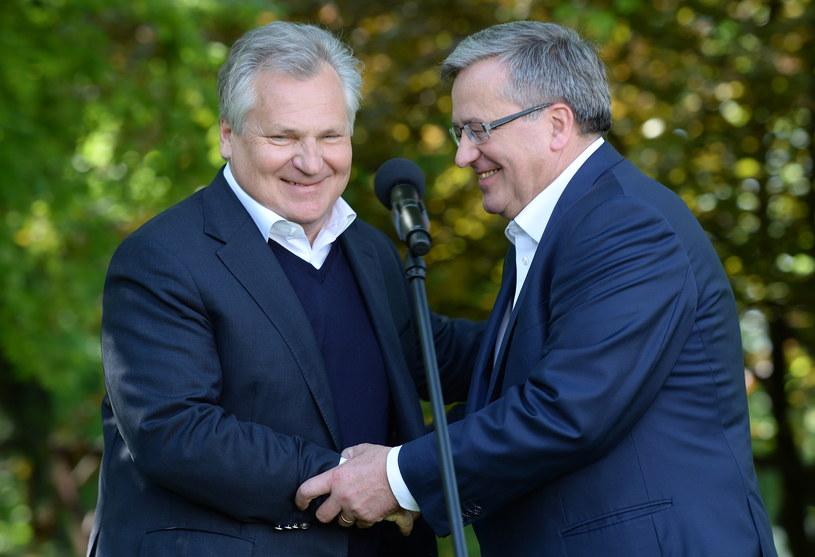 Aleksander Kwaśniewski i Bronisław Komorowski /Jacek Turczyk /PAP