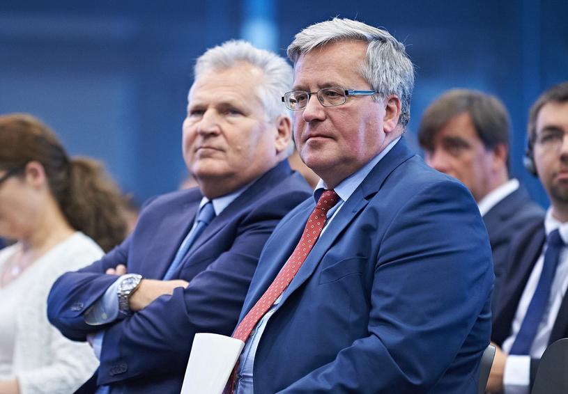Aleksander Kwaśniewski i Bronisław Komorowski /Bartosz Krupa /East News