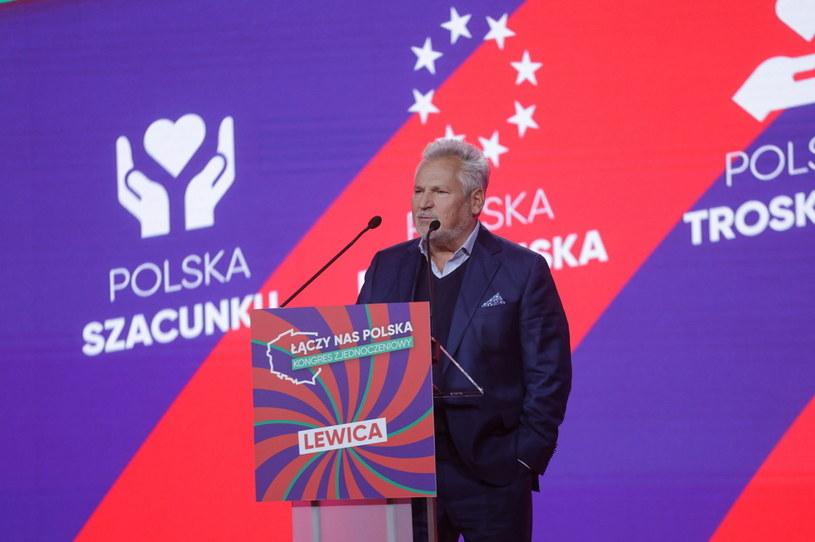 Aleksander Kwaśniewski na Konwencji Zjednoczeniowej Nowej Lewicy /PAP/Albert Zawada /PAP
