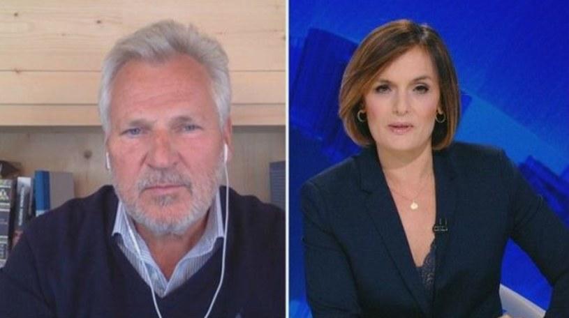 Aleksander Kwaśniewski podczas wywiadu z Dorotą Gawryluk /Screen z Polsat News /materiał zewnętrzny