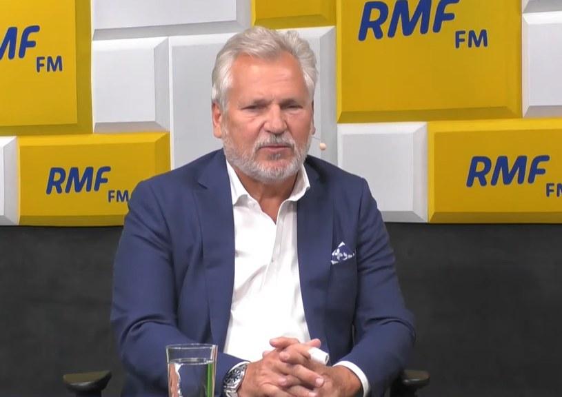 Aleksander Kwaśniewski w RMF FM /RMF