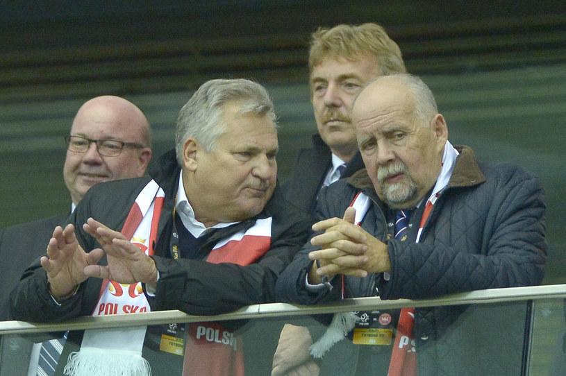 Aleksander Kwaśniewski, Zbigniew Boniek, Andrzej Person /Piętka Mieszko /AKPA