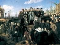 Aleksander Lesser, Pogrzeb pięciu ofiar manifestacji w Warszawie w roku 1861, 1867 /Encyklopedia Internautica