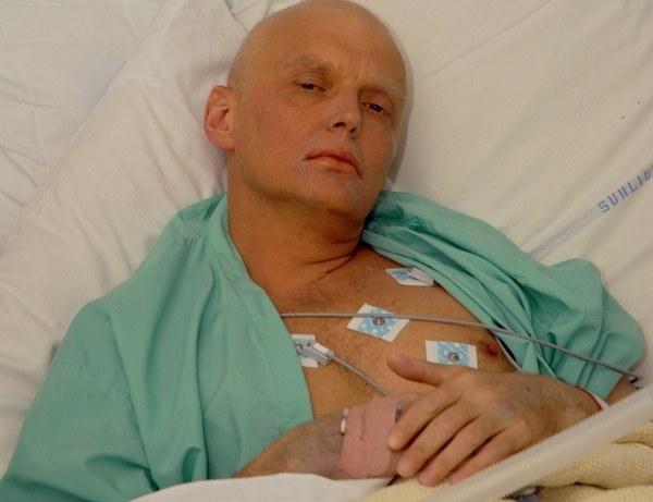 Aleksander Litwinienko na kilka dni przed śmiercią /AFP