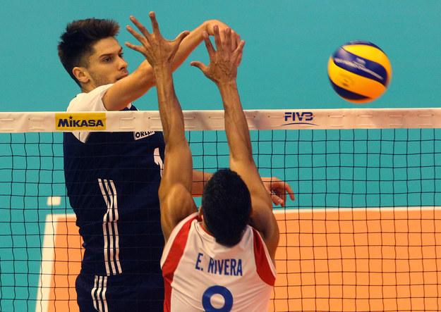 Aleksander Śliwka był najskuteczniejszym polskim siatkarzem w meczu z Portoryko /fivb /