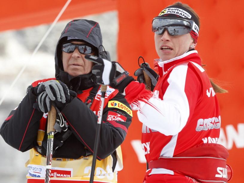 Aleksander Wierietielny i Justyna Kowalczyk /fot. Grzegorz Momot /PAP