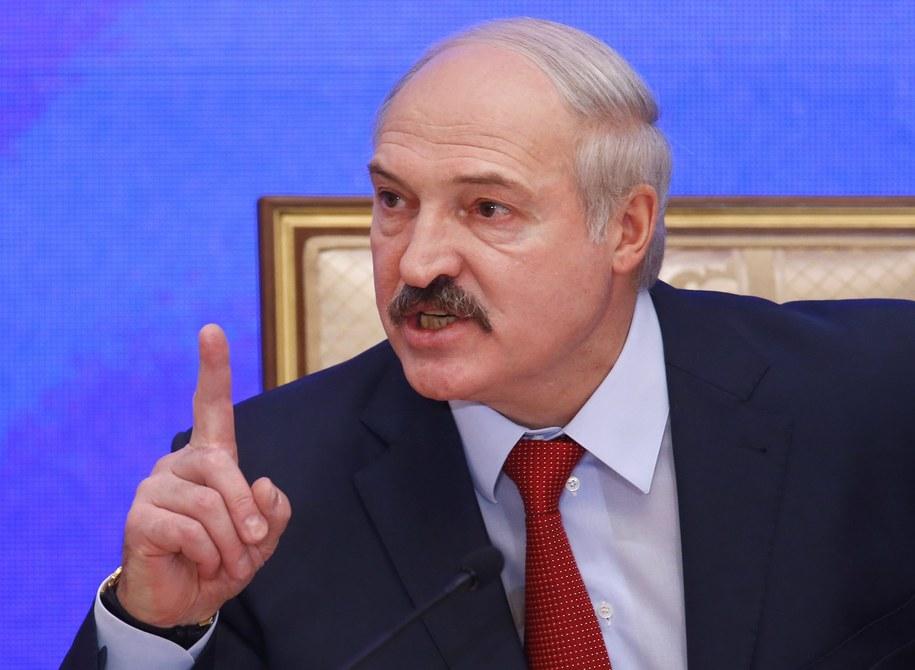 Aleksandr Łukaszenka /PAP/EPA/SERGEI GRITS/POOL  /PAP/EPA