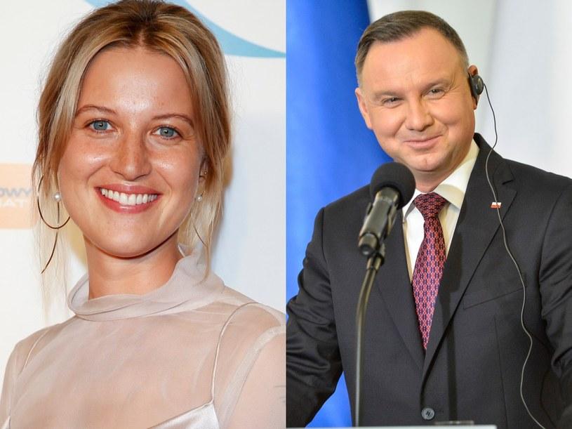 Aleksandra Domańska, Andrzej Duda /AKPA