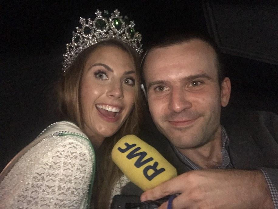 Aleksandra Grysz, Miss Earth Poland 2018 i reporter RMF FM Michał Dobrołowicz /RMF FM