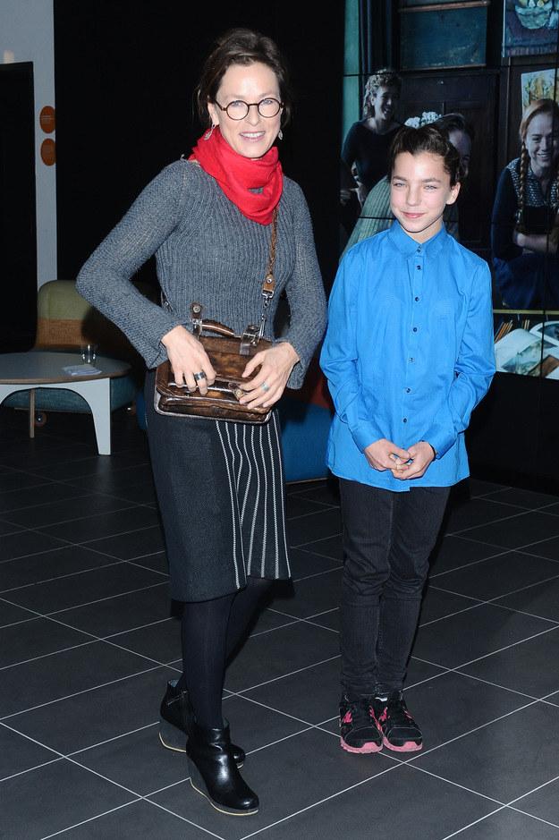 Aleksandra Justa z córką Bronią /Andras Szilagyi /MWMedia