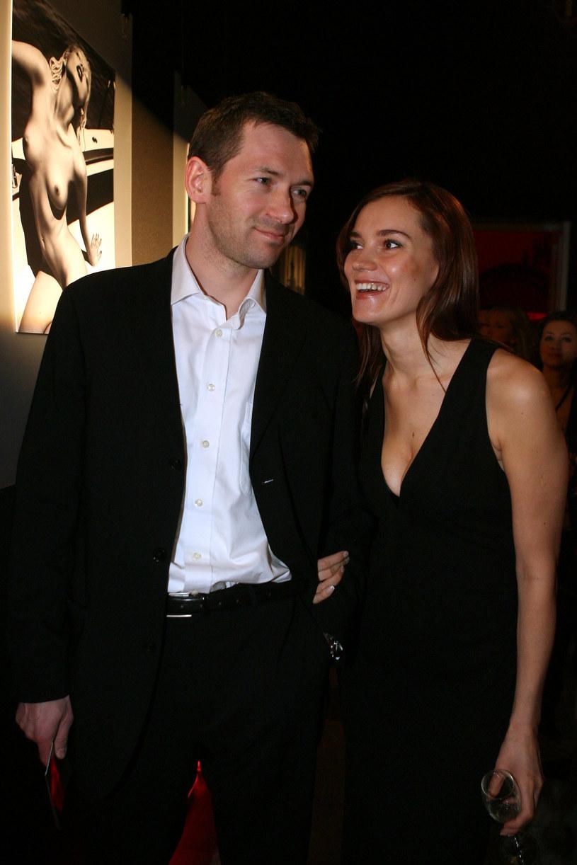 Aleksandra Nieśpielak i Maciej Kubiak w 2005 roku /Piotr Fotek /East News
