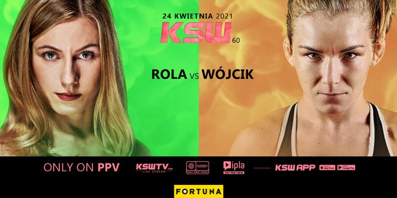 Aleksandra Rola kontra Karolina Wójcik na KSW 60 /KSW /Informacja prasowa