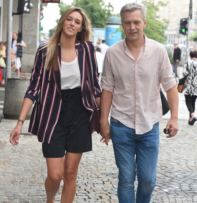 Aleksandra Żebrowska z mężem, Michałem /East News