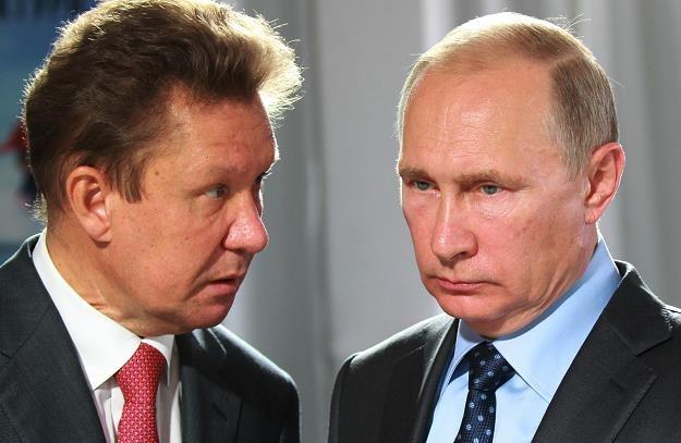 Aleksiej Miller (L), szef Gazpromu i Władimir Putin, prezydent Rosji. Fot. Mikhail Svetlov /Getty Images/Flash Press Media