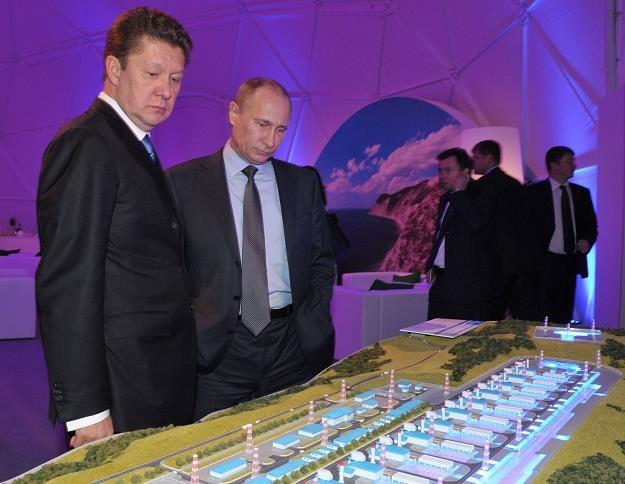 Aleksiej Miller szef Gazpromu i Prezydet Putin /AFP