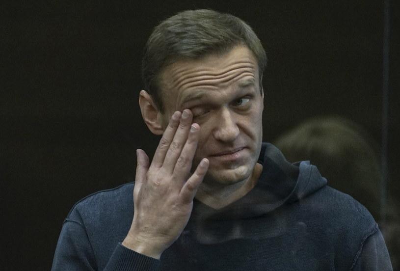 Aleksiej Nawalny przed sądem /PAP/EPA