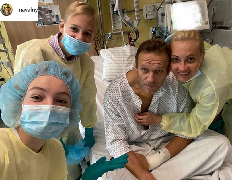 Aleksiej Nawalny w szpitalu Charite /