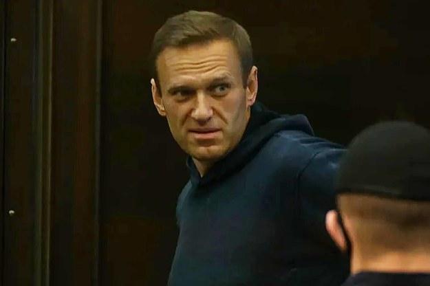 Aleksiej Nawalny w trakcie rozprawy w Moskwie na początku lutego /Moscow City Court Press Office\TASS  /PAP/ITAR-TASS
