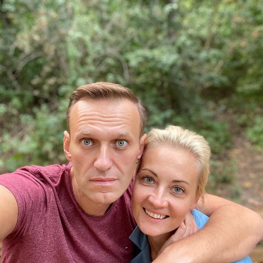 Aleksiej Nawalny z żoną Julia - zdjęcie, jakie opublikował na Instagramie /ALEXEI NAVALNY HANDOUT /PAP/EPA
