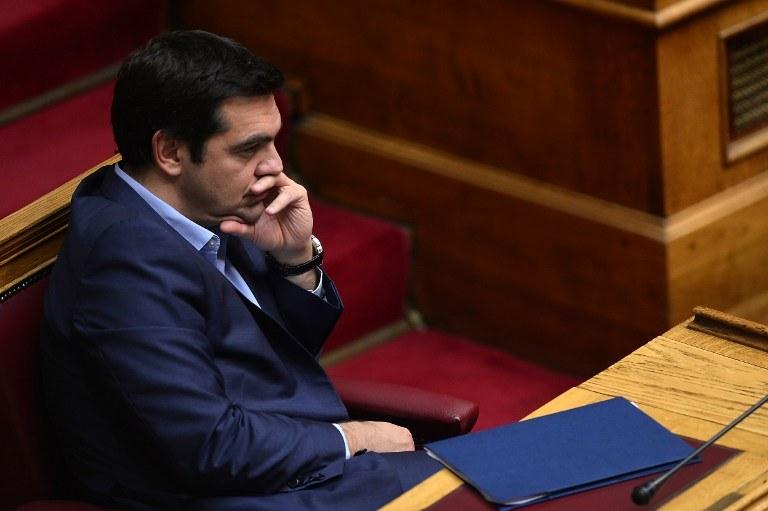 Aleksis Cipras, premier Grecji /LOUISA GOULIAMAKI / AFP /AFP