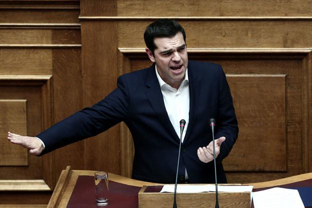 """Aleksis Cipras: """"Ten budżet będzie trudny dla rządu"""" /AFP"""
