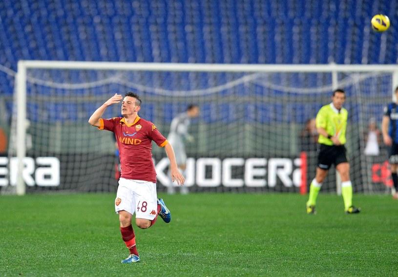 Alessandro Florenzi cieszy się ze zdobycia gola dla Romy w meczu z Interem /AFP