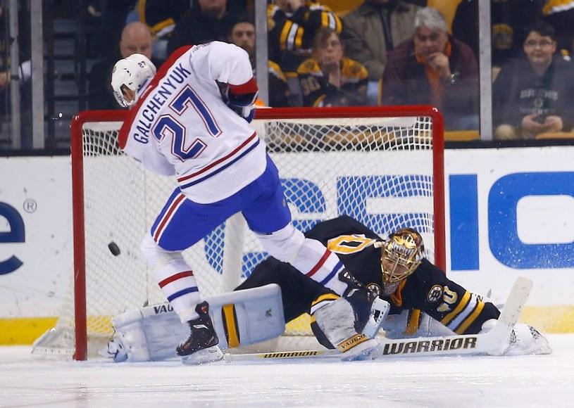 Alex Galchenyuk zdobywa zwycięskiego gola dla Canadiens /AFP